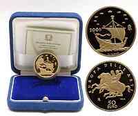 Italien : 50 Euro Europäische Kunst - La Grecia inkl. Originaletui und Zertifikat  2006 PP 50 Euro Europäische Kunst Griechenland