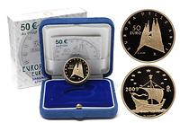 Italien : 50 Euro Antoni Gaudi inkl. Originaletui und Zertifikat  2009 PP