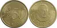 Vatikan : 50 Cent Benedikt XVI.  2013 vz/Stgl.