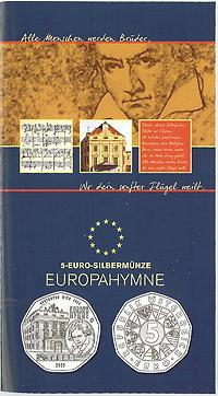 Österreich : 5 Euro Europahymne von Beethoven im Originalblister  2005 Stgl.