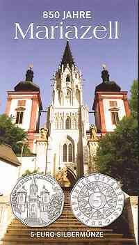 Österreich : 5 Euro 850 Jahre Mariazell im Originalblister  2007 Stgl.