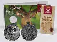 Österreich : 5 Euro Land der Wälder  2011 Stgl.
