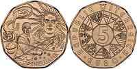 Österreich : 5 Euro Silvesterbräuche  2014 Stgl.