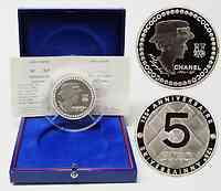 Frankreich : 5 Euro Chanel inkl. Originaletui und Zertifikat  2008 PP 5 Euro Chanel Silber 5 Unzen