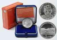 Italien : 5 Euro Guiseppe Garibaldi inkl. Originaletui und Zertifikat  2007 Stgl.