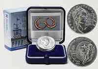 Italien : 5 Euro 60 Jahre Verfassung inkl. Originaletui und Zertifikat  2008 Stgl.