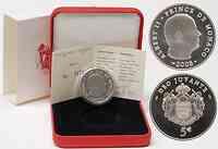 Monaco : 5 Euro Albert II. inkl. Originaletui und Zertifikat  2008 Stgl. 5 Euro Monaco 2008