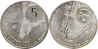 Niederlande : 5 Euro 400 Jahre Beziehung zu New York  2009 Stgl.
