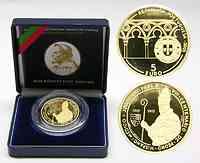 Portugal : 5 Euro Papst Johannes XXI - Petrus Hispanus  2005 PP 5 Euro Portugal 2005 Gold