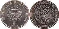Portugal : 5 Euro Laurissilva  2007 Stgl.