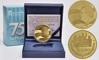 Spanien : 5 Euro 75. Geburtstag König Juan Carlos vergoldet  2013 PP
