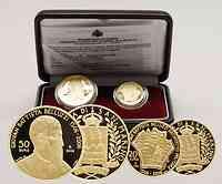 San Marino : 70 Euro Set aus 20 + 50 Euro Belluzzi inkl. Originaletui und Zertifikat  2006 PP 20 50 Euro Belluzzi Italien 2006