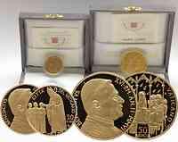 Vatikan 70 Euro Set aus 20+50 Euro Gold 2006 PP