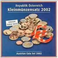 Österreich : 3,88 Euro Originalsatz der Österreichischen Münze 2002 Stgl.