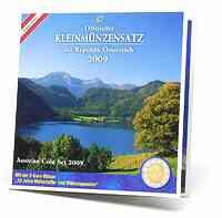 Österreich : 3,88 Euro Originalsatz der Österreichischen Münze mit 2 Euro Gedenkmünze 2009 Stgl.