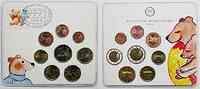 Deutschland : 3,88 Euro Kursmünzensatz 2002 der Staatlichen Münze Berlin, mit eingeschweißter Briefmarke !  2002 bfr