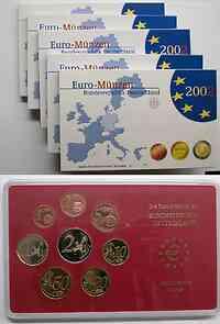 """Deutschland : 19,4 Euro kompletter Satz in Originalverpackung """"Bad Homburg"""" 2002 PP"""