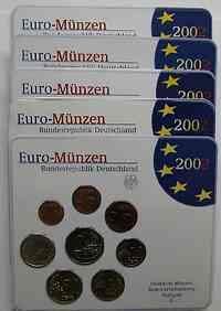 """Deutschland : 19,4 Euro kompletter Satz in Originalverpackung """"Bad Homburg"""" 2002 Stgl."""