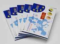 """Deutschland : 29,4 Euro kompletter Satz in Originalverpackung """"Bad Homburg"""" - jetzt mit zusätzlicher 5 x 2 Euro Gedenkmünze """"10 Jahre WWU""""  2009 PP"""