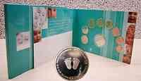"""Deutschland : 3,88 Euro Baby-Münzsatz 1 Cent- 2 Euro """"F"""" + Medaille , Originalausgabe der Staatlichen Münzen Baden Württemberg 2002 bfr"""
