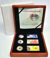 Niederlande : 15 Euro 3x 5 Euro 200 Jahre Niederländische Bank  2014 PP