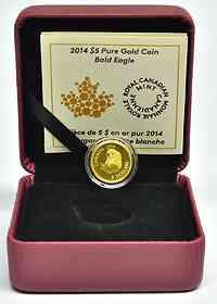 Kanada : 5 Dollar Weißkopfseeadler 1/10 oz  2014 PP