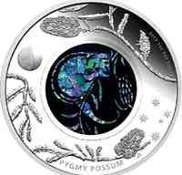 Australien : 1 Dollar Opalserie - Zwergopossum / Bilchbeutler  2013 PP