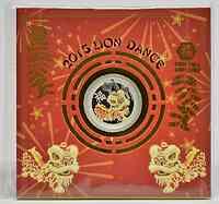Australien : 1 Dollar 1 $ 2015 Chinesischer Löwentanz 1 oz Silber - farbig  2015 PP