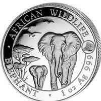 Somalia : 100 Shilling Elefant - Privymark Ziege  2015 Stgl.