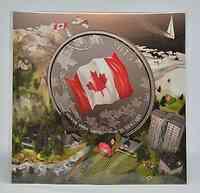 Kanada : 25 Dollar Canada Flagge - farbig - 25$ für 25$ Serie  2015 Stgl.