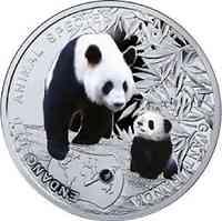 Niue : 1 Dollar Gefährdete Tiere - Großer Panda - farbig  2014 PP