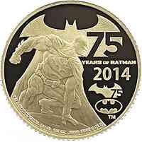 Niue : 25 Dollar 75 Jahre Batman 1/4 Oz  2014 PP