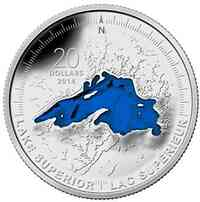Kanada : 20 Dollar The Great Lakes - Lake Huron  2014 PP
