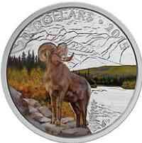 Kanada : 20 Dollar Dickhornschaf - farbig  2015 PP