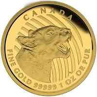 Kanada : 200 Dollar Knurrender Puma  2015 PP