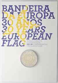 Portugal 2 Euro 30 Jahre Europäische Flagge 2015 Stgl. Coincard