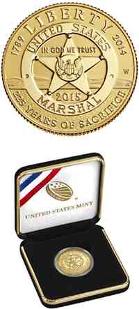 USA : 5 Dollar 225 Jahre United States Marshalls  2015 PP