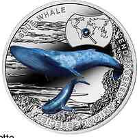 Niue : 1 Dollar Gefährdete Tiere - Blauwal - farbig  2015 Stgl.