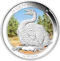 Australien : 1 Dollar Australische Megafauna - Genyornis - fabrig  2014 PP