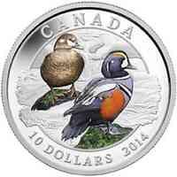 Kanada : 10 Dollar Kragenente - farbig  2014 PP