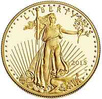 USA : 5 Dollar American Eagle 1/10 oz  2015 PP