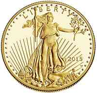 USA : 10 Dollar American Eagle 1/4 oz  2015 PP