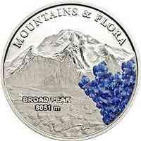 Palau Islands : 5 Dollar Broad Peak (Karakorum) - Berge und Blumen - farbig  2014 PP