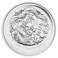 Australien : 30 Dollar Lunarserie II Jahr des Drachen  2012 Stgl.