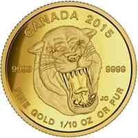 Kanada : 5 Dollar Prähistorische Tiere - Scimitar Säbelzahnkatze  2015 PP