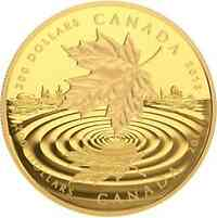 "Kanada : 200 Dollar Maple Leaf ""Reflection"" 1 oz  2015 PP"