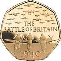 Großbritannien : 50 Pence 75 Jahre Luftschlacht um England  2015 PP