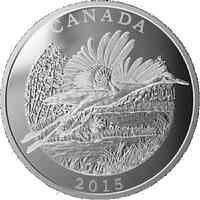 Kanada : 125 Dollar Naturschutz - Schreikranich 1/2 Kilo  2015 PP