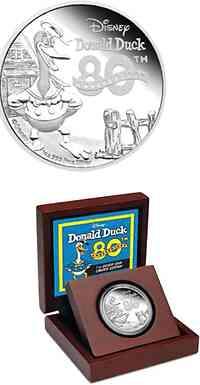 Niue : 2 Dollar Donald Duck - Disney Classics -farbig  2014 PP
