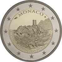 Monaco : 2 Euro 800. Jahrestag des Baus des ersten Schlosses auf dem Felsen  2015 PP